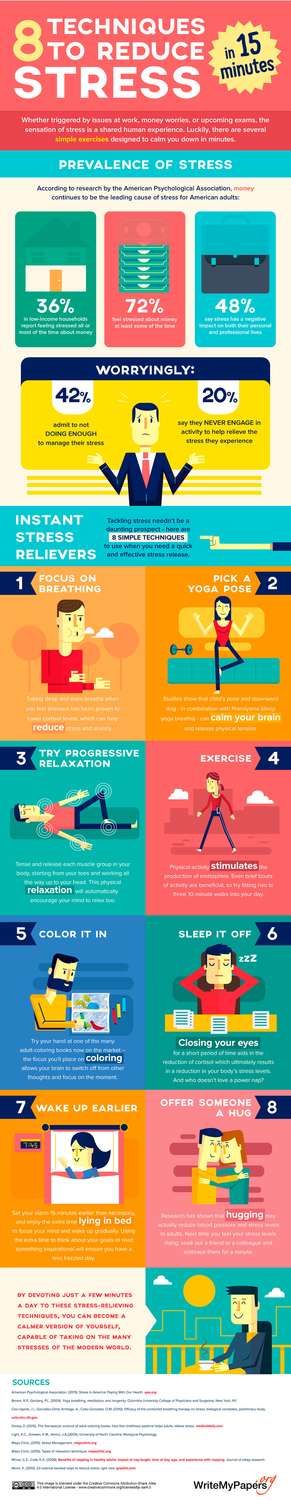 infographics on how to reduce stress  techniques to reduce stress from